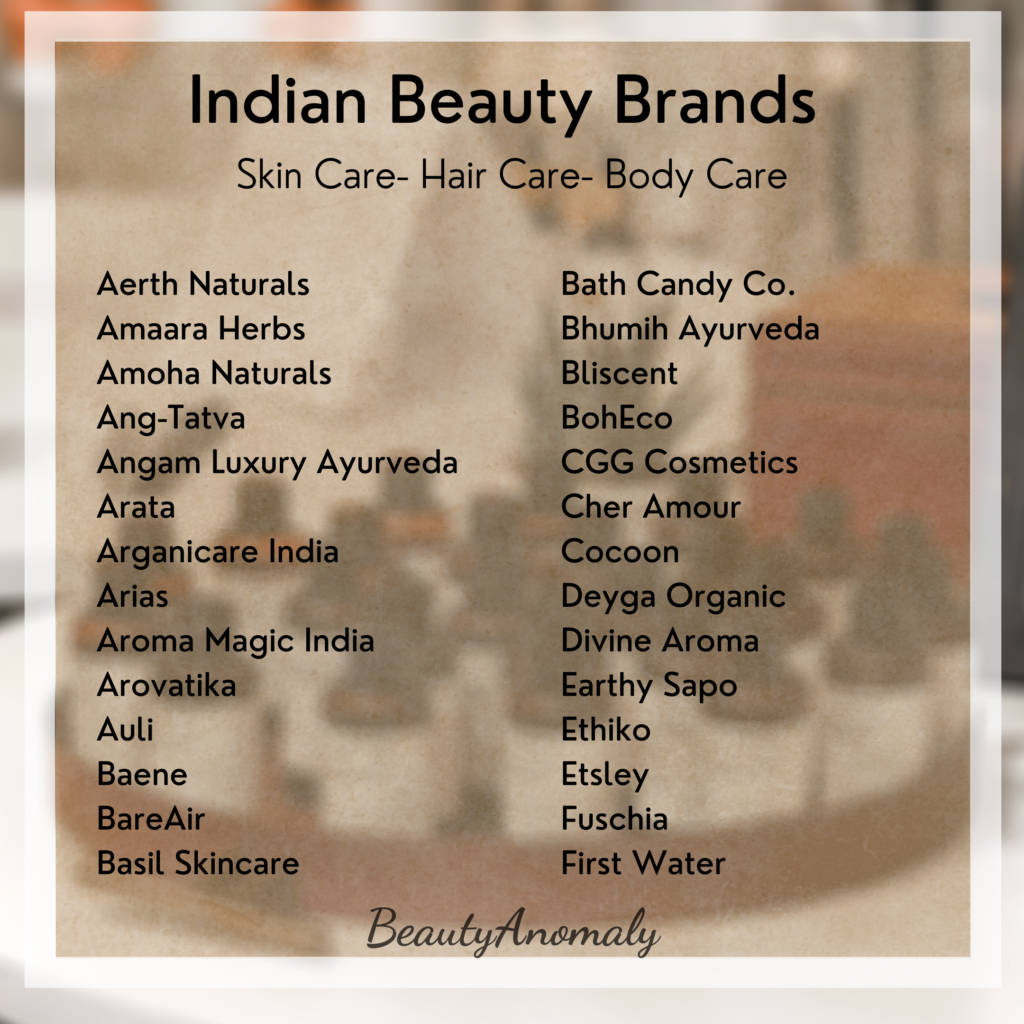 Homegrown Indian Beauty Brands   BeautyAnomaly